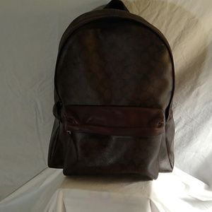 Large Coach leather backpack OBO
